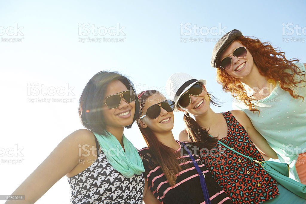 True friends are life's greatest gift! stock photo