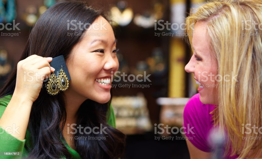 True friends give honest fashion advice royalty-free stock photo