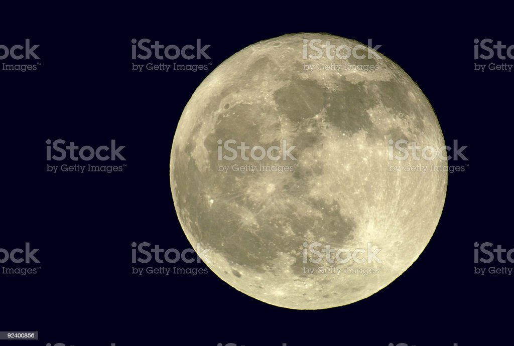 True Full Moon stock photo