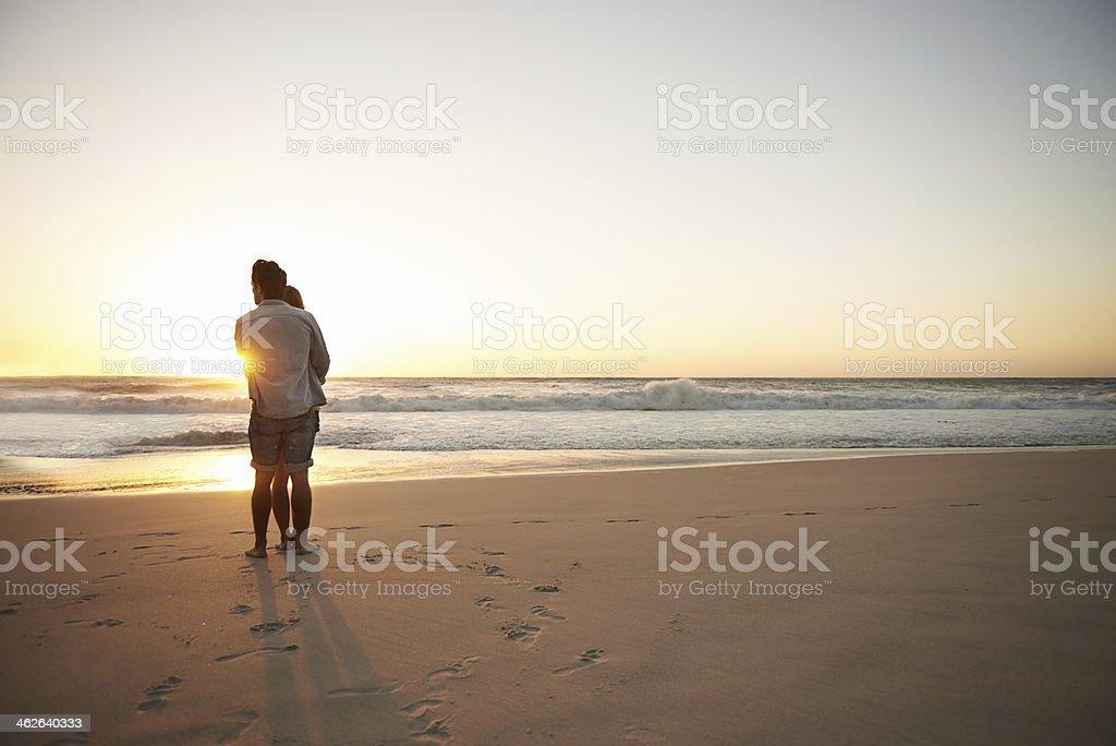 True love at sunset stock photo