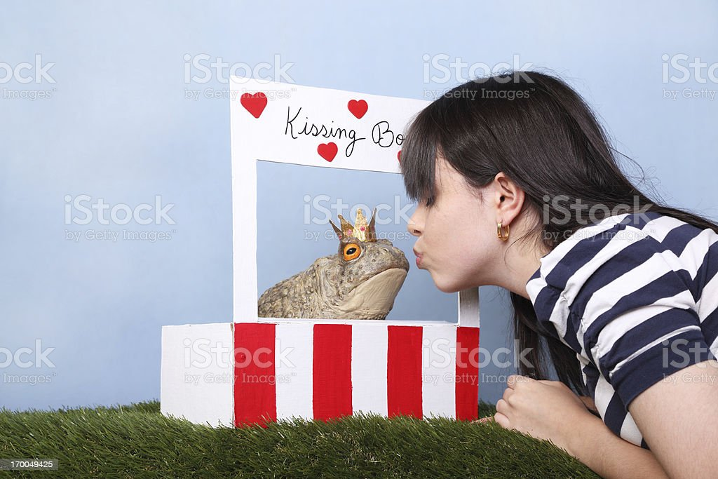 True Love's First Kiss royalty-free stock photo