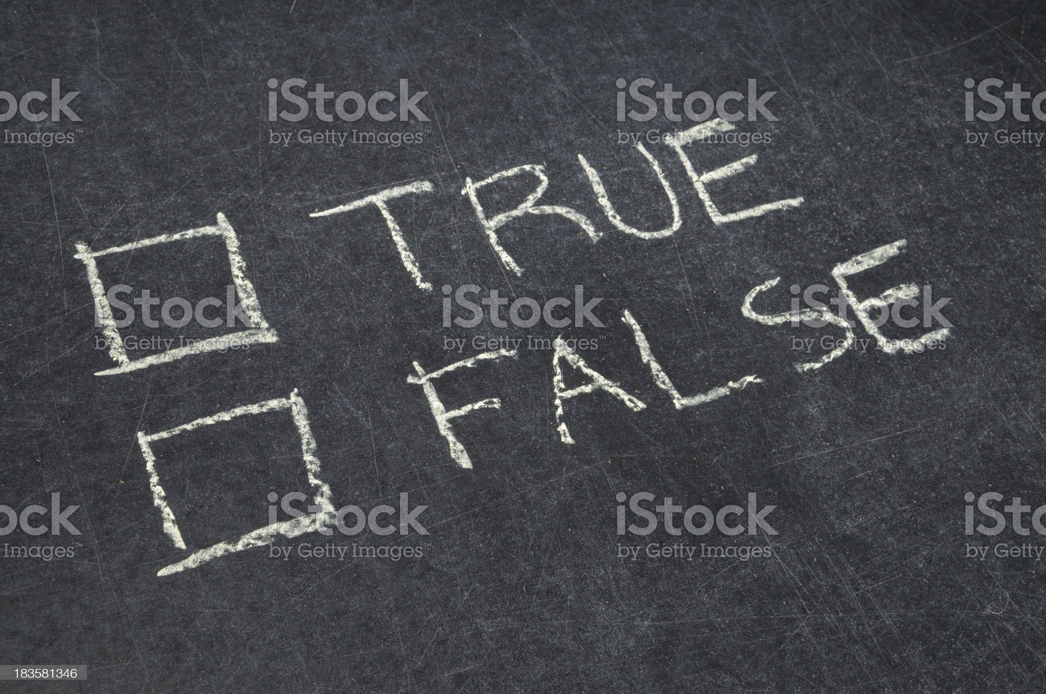 True or False Checkbox royalty-free stock photo
