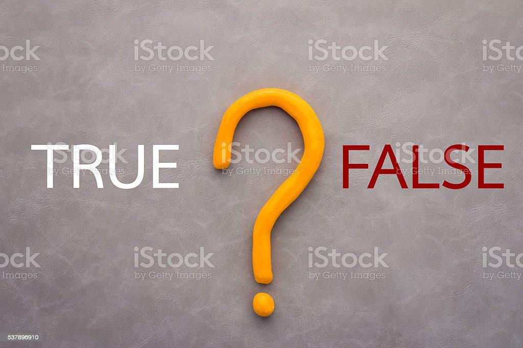 true or false decision concept stock photo