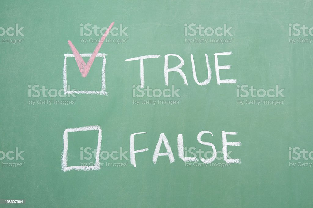 True or False royalty-free stock photo