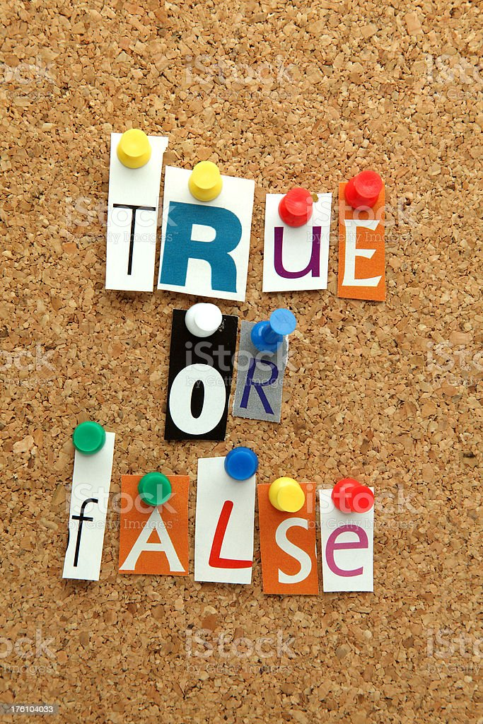 True or False royalty-free stock photo