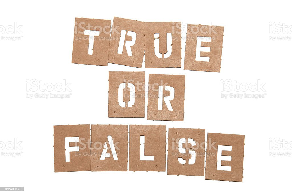 True or False stencil word royalty-free stock photo