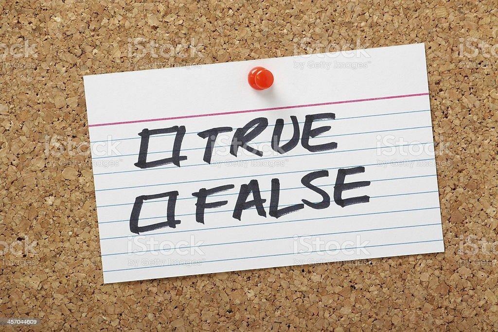 True or False Tick Boxes royalty-free stock photo