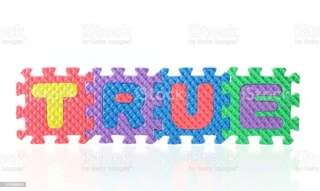 True Puzzle stock photo