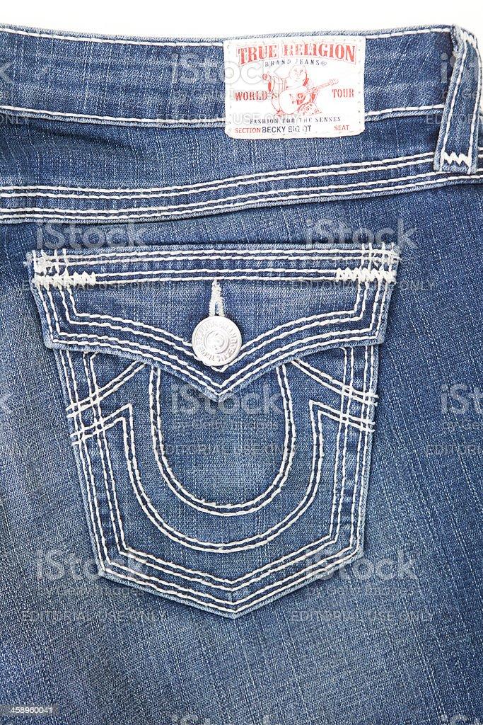 True Religion Brand Jeans stock photo