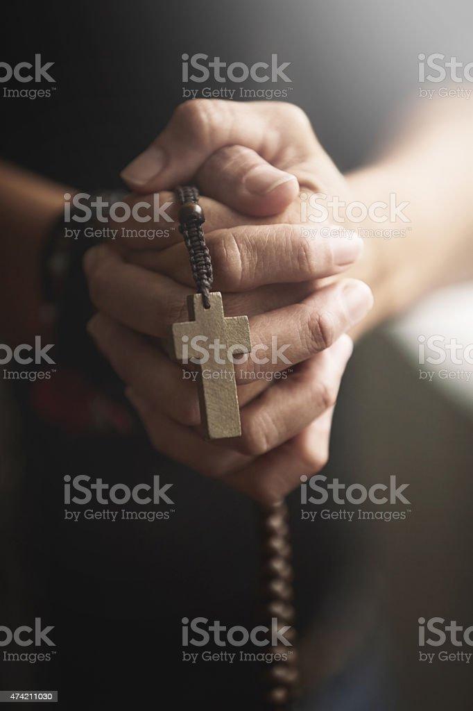 True to his religion stock photo