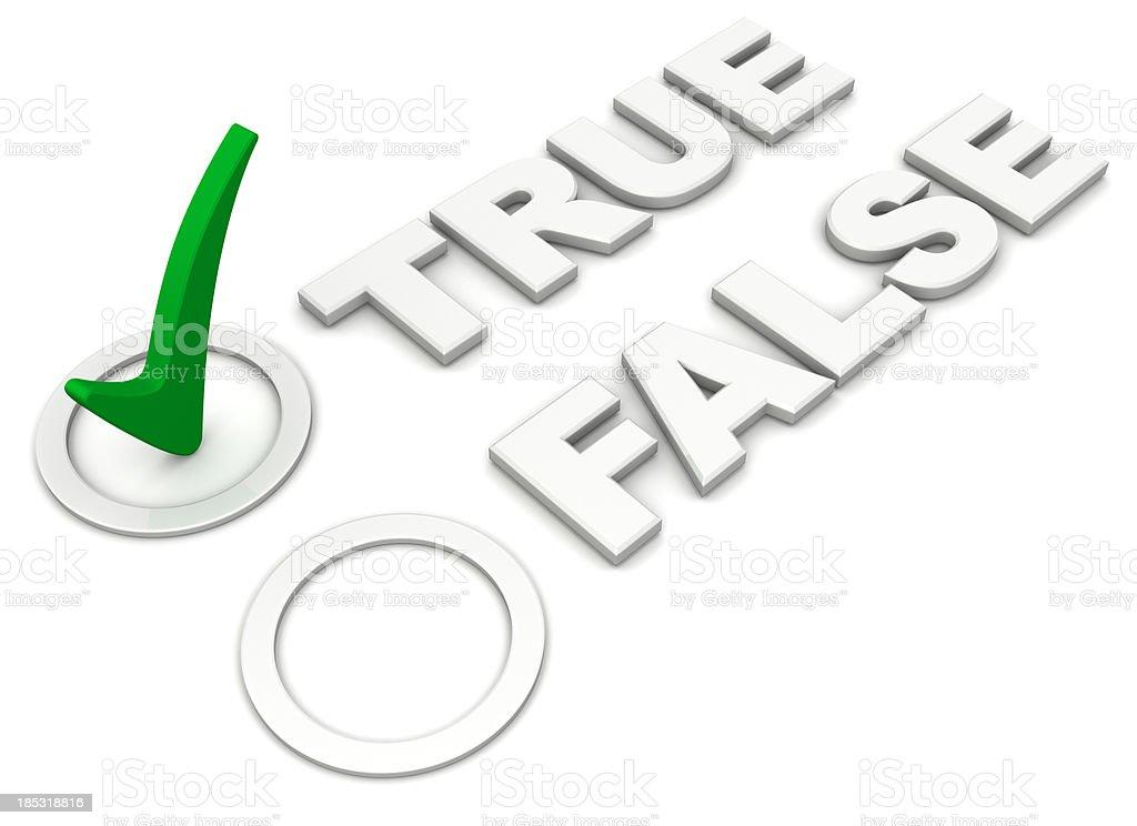 True-False checkmark or ticked box stock photo