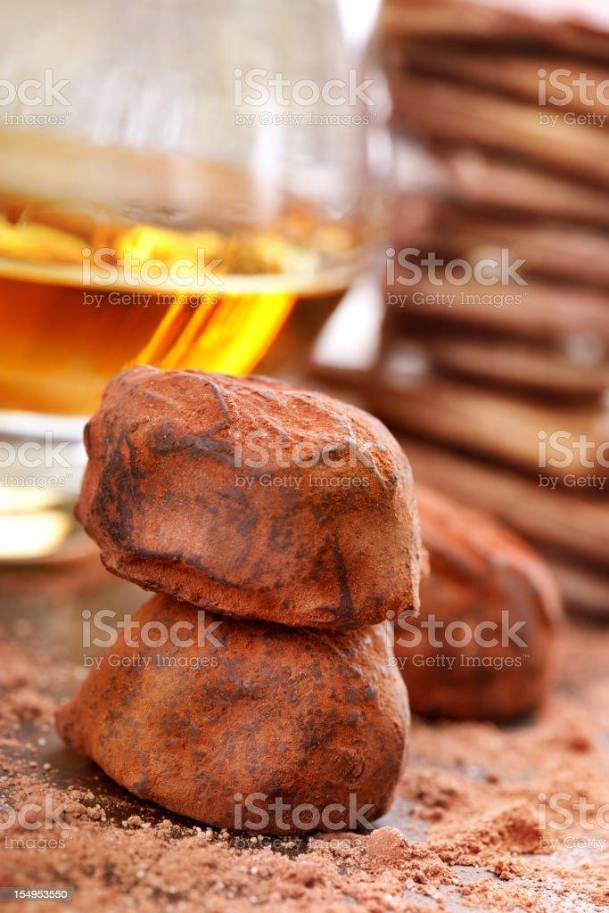 Truffle and Brandy stock photo