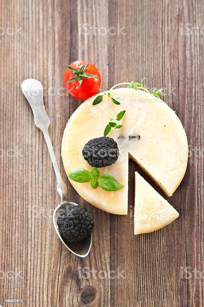 truffle cheese stock photo