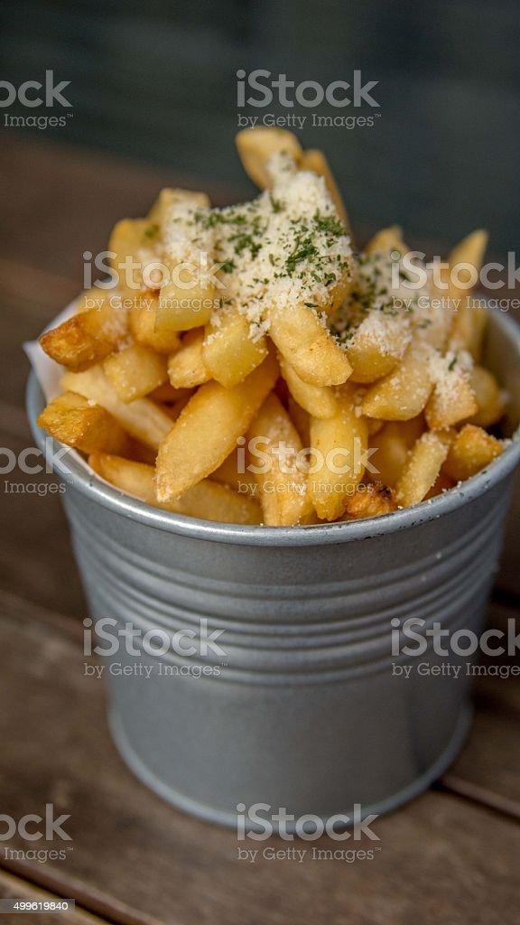 Truffle Fries stock photo