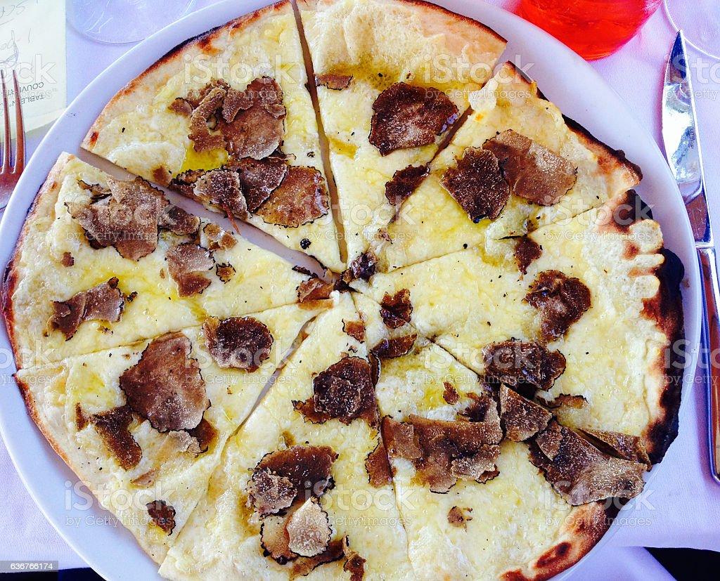 Truffle Pizza stock photo