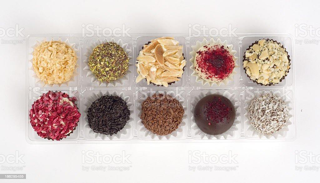 Truffles and chocolates royalty-free stock photo