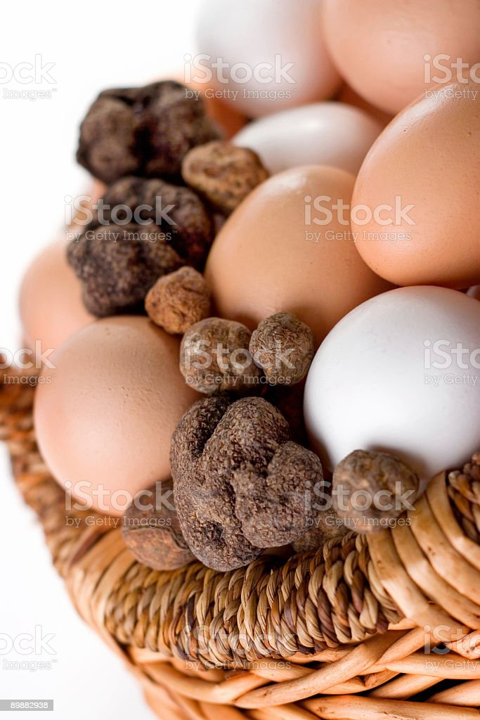 Truffles and Eggs stock photo