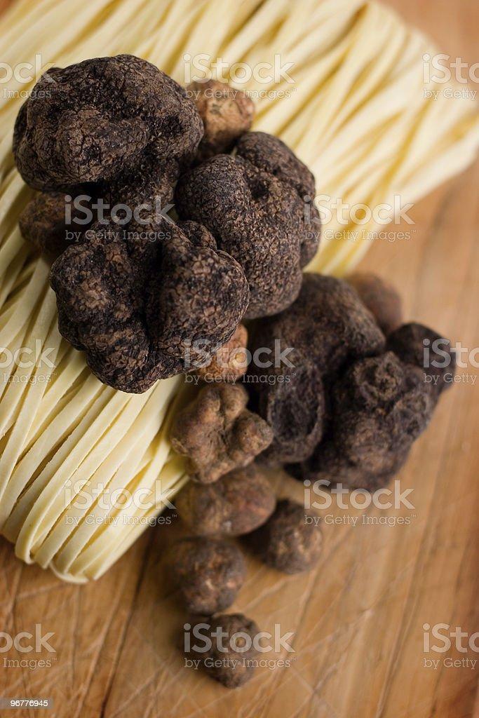 Truffles and Tagliatelle stock photo