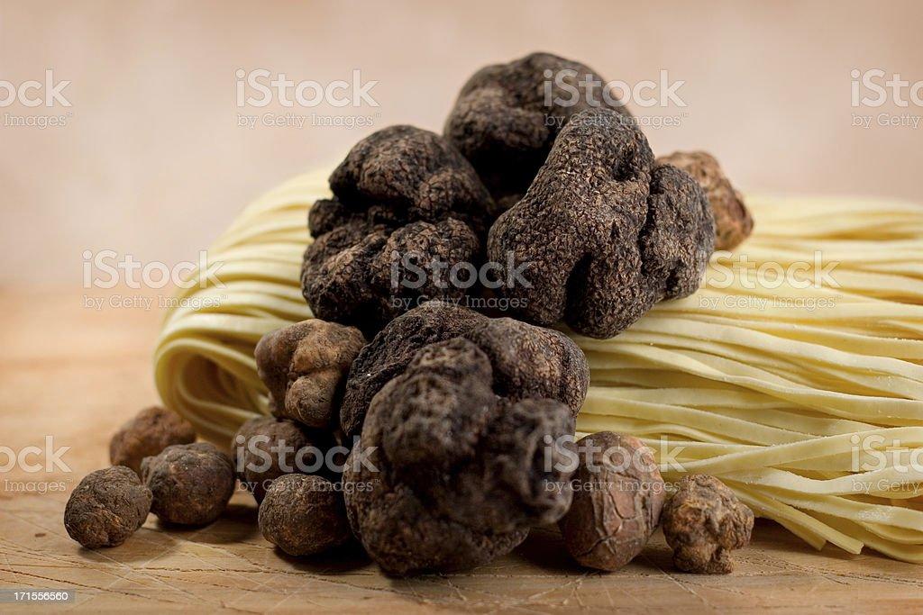 Truffles & Pasta stock photo