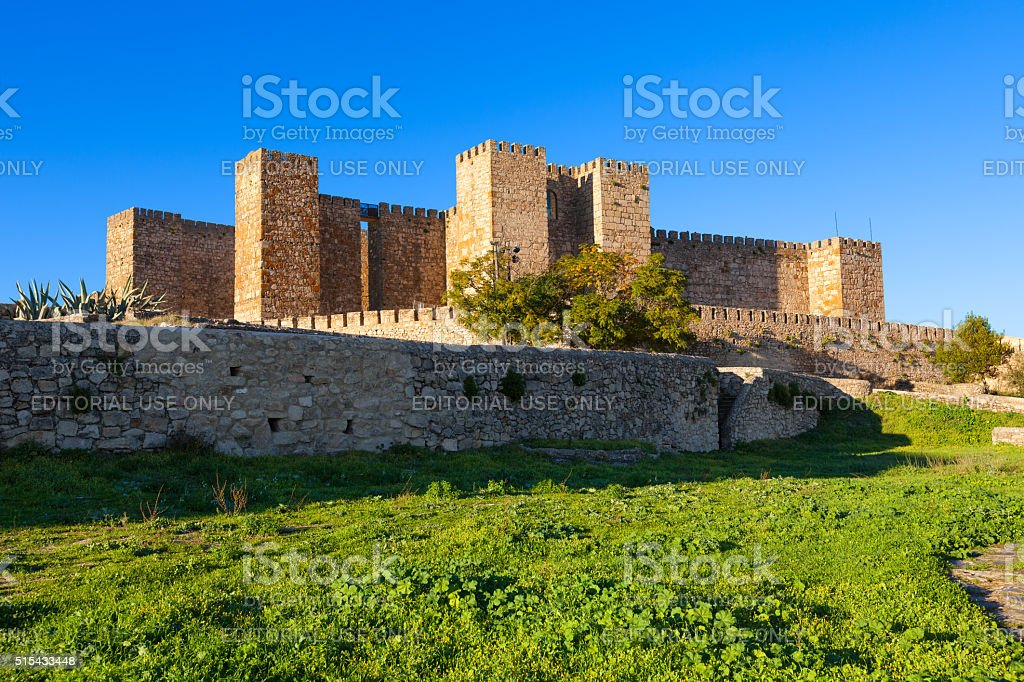 Trujillo castle, Spain stock photo