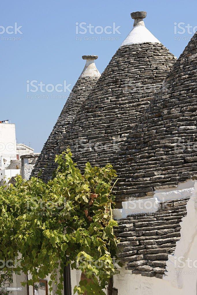 Trulli houses in Alberobello, Italy royalty-free stock photo