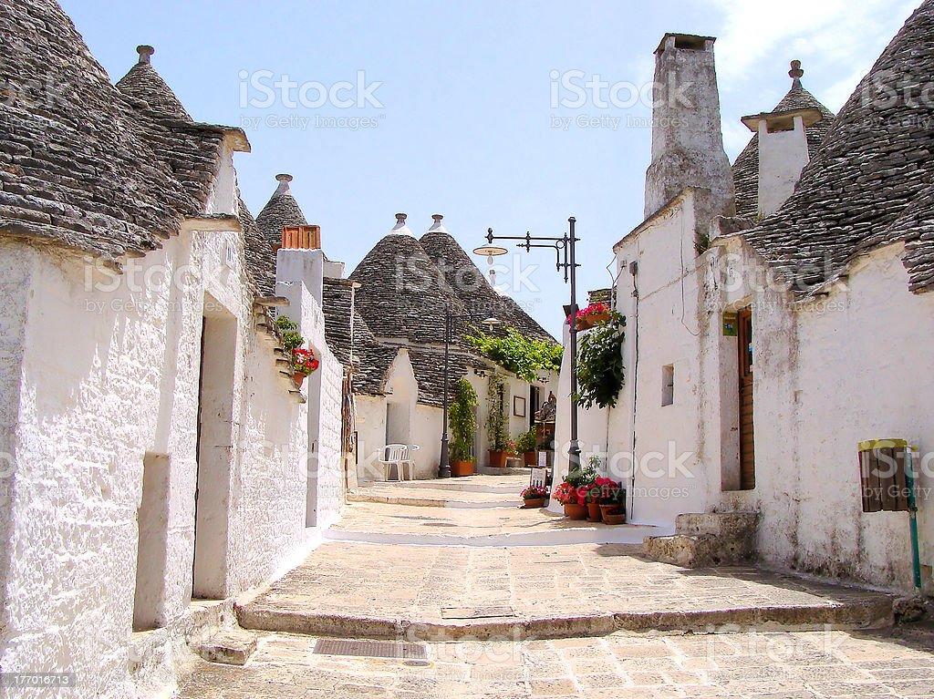 Trulli houses of Alberobello, Italy stock photo