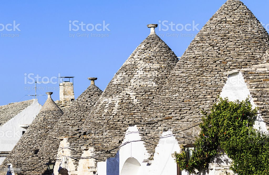 Trulli roofs in Alberobello, Italy royalty-free stock photo