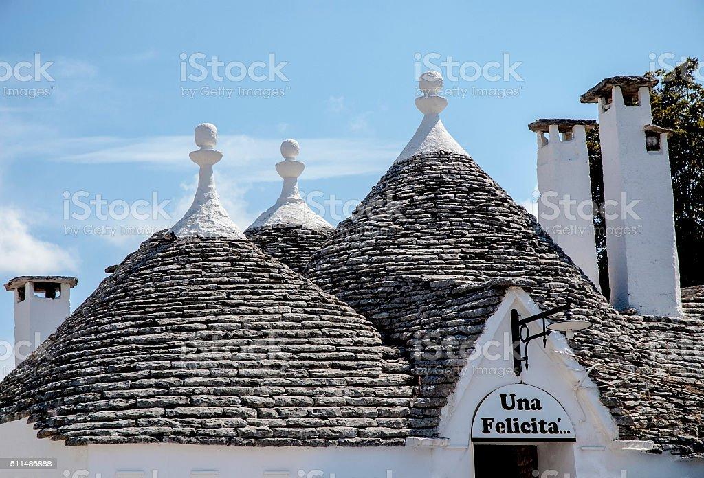 Trulli Roofs in Alberobello, Italy stock photo