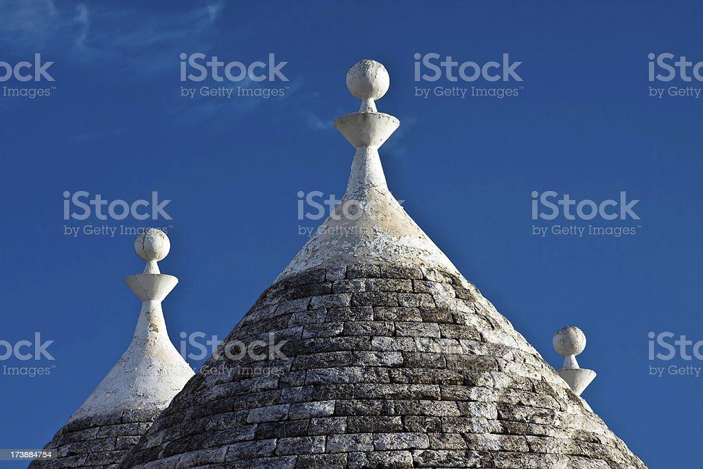 Trullo Roofs in Alberobello royalty-free stock photo