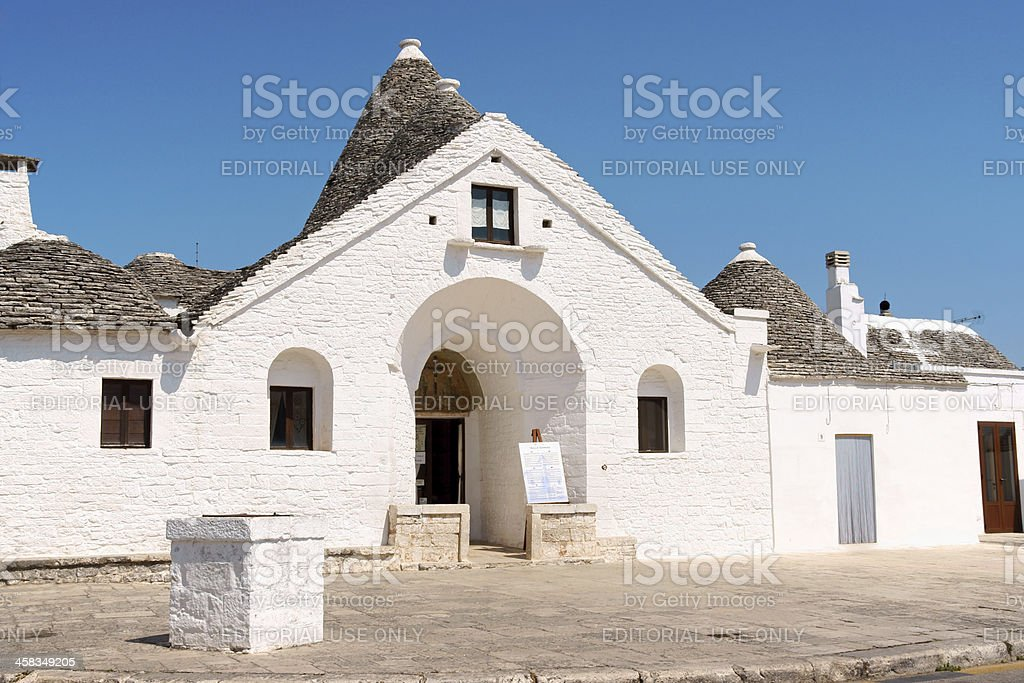 Trullo Sovrano (Sovereign) in Alberobello royalty-free stock photo