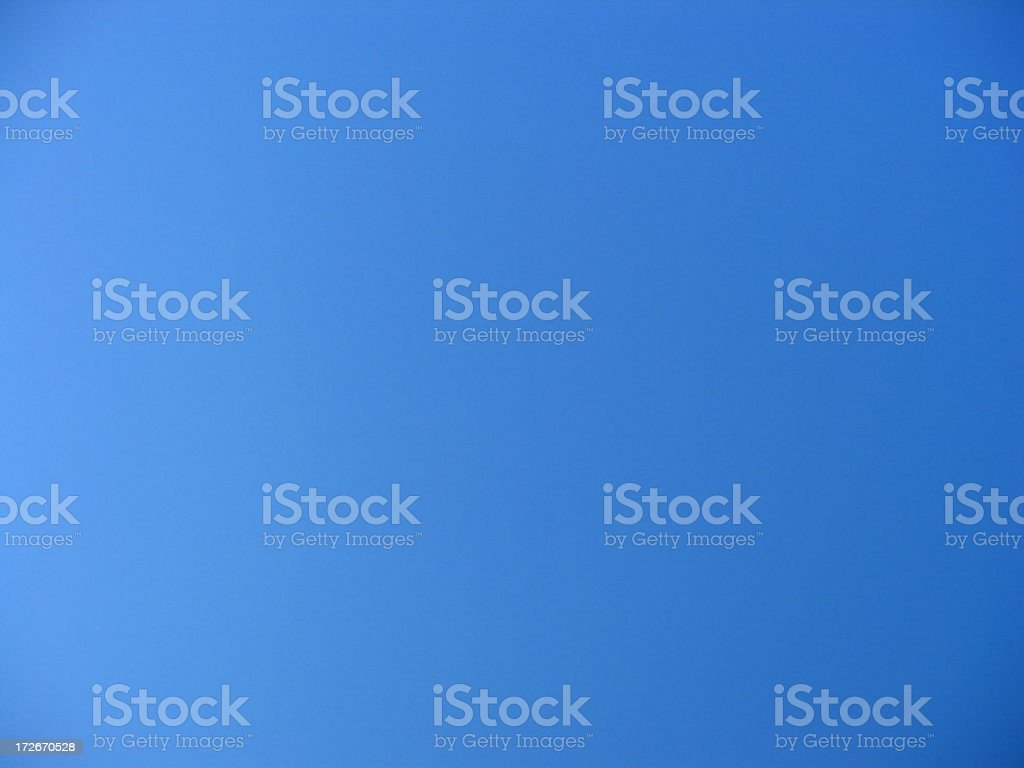 Truly Blue Sky royalty-free stock photo