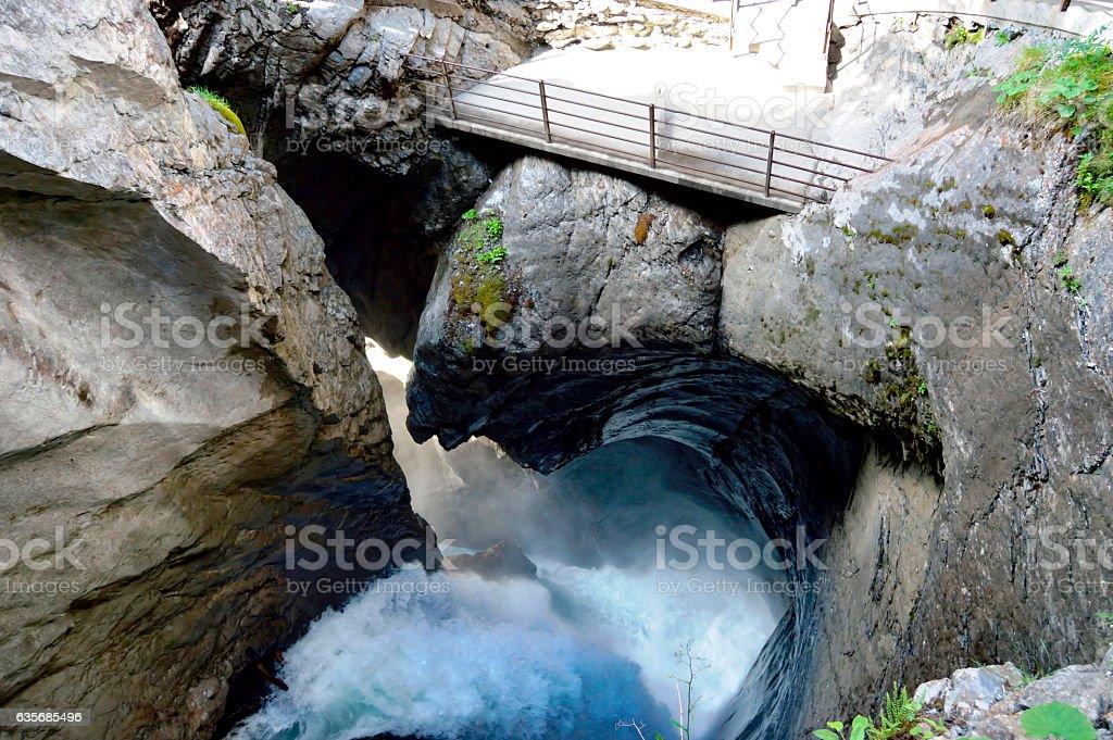 Trummelbachfalle, Lauterbrunnen, Switzerland stock photo