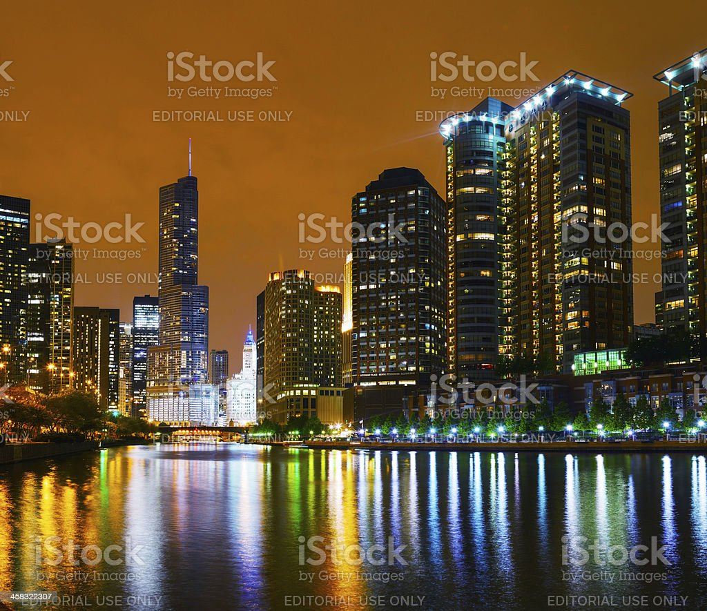 Trump International Hotel and Tower in Chicago, IL stock photo