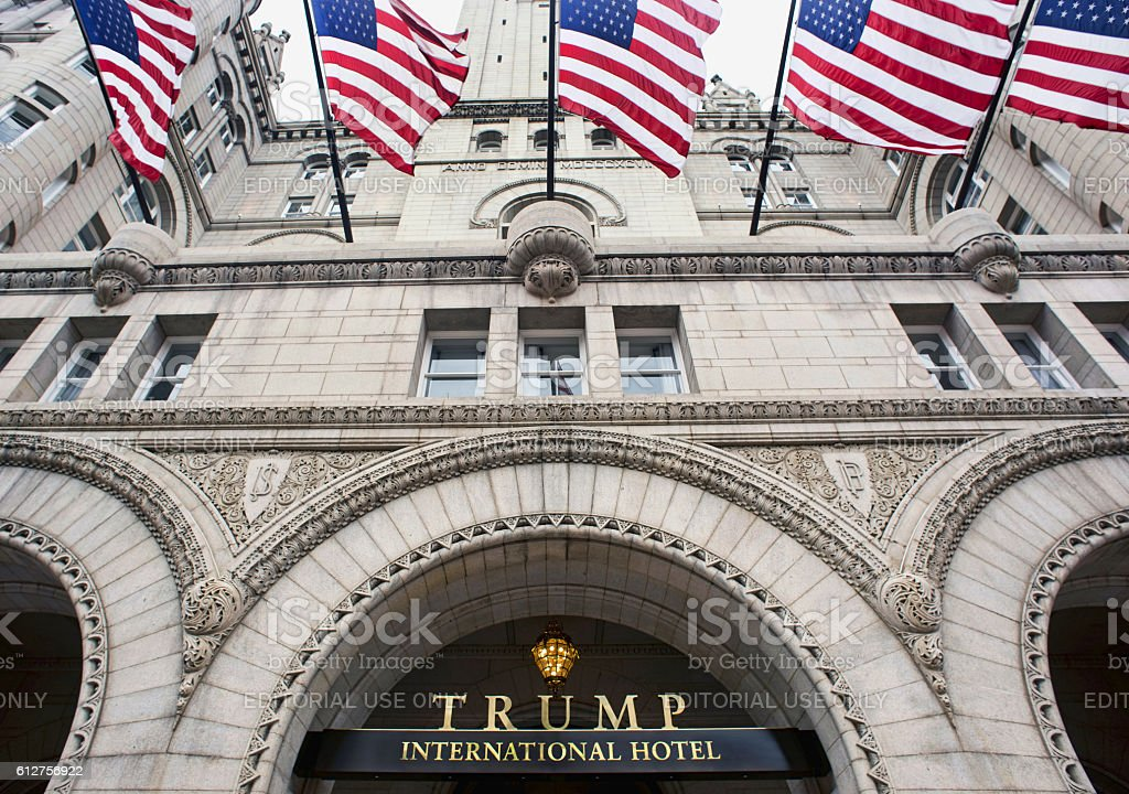 Trump International Hotel in Washington DC. stock photo