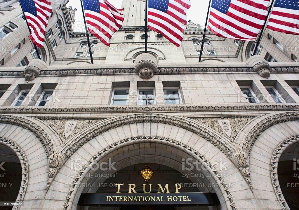 Trump International Hotel in Washington DC. stock photo