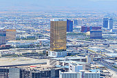 Trump International Hotel Las Vegas, Nevada, and surrondings from above.