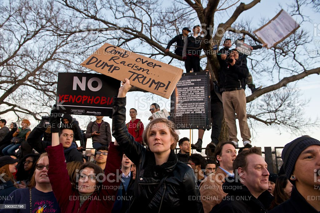 Trump Protest At UIC stock photo