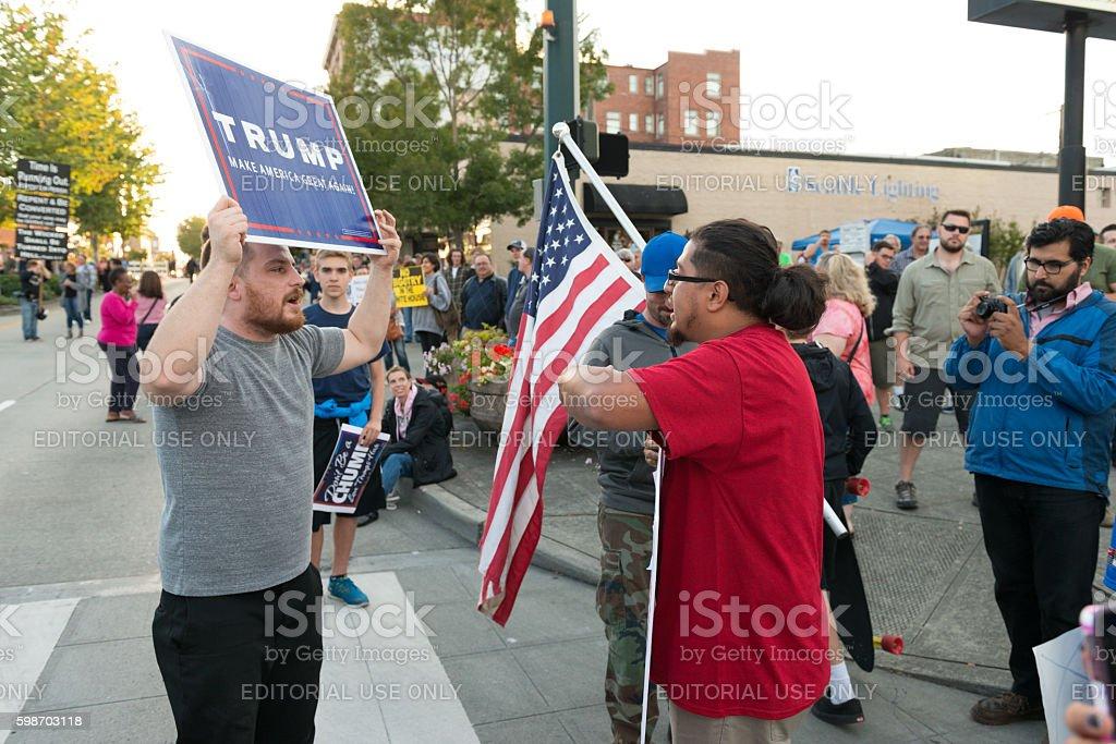 Trump Protest stock photo