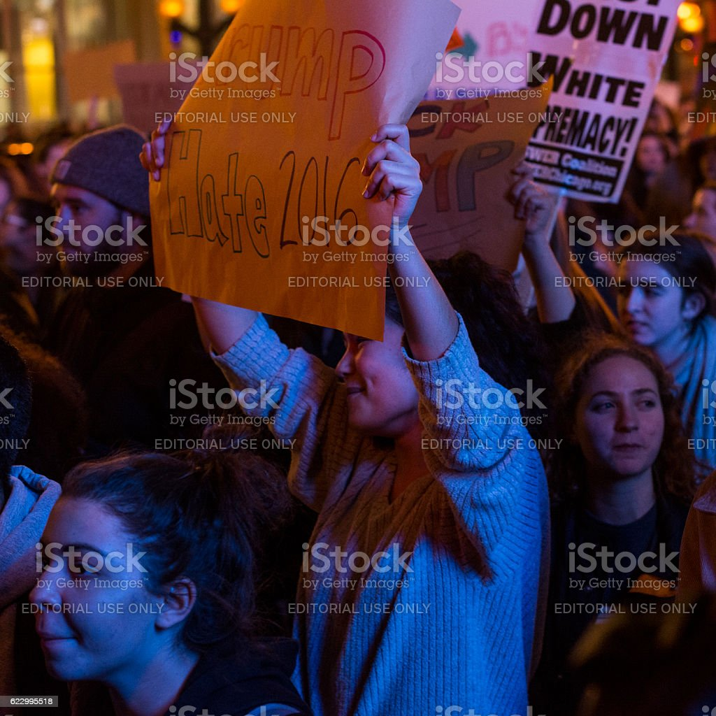 Trump Protestor stock photo