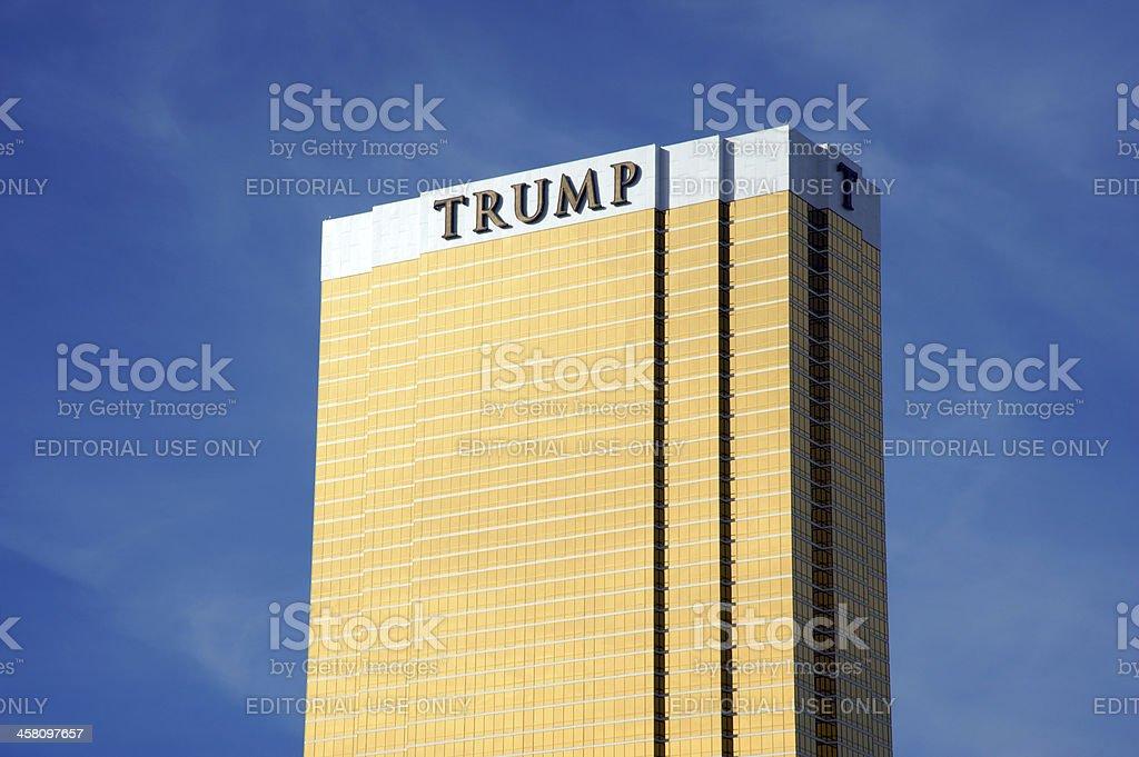 Trump tower building in Las Vegas royalty-free stock photo