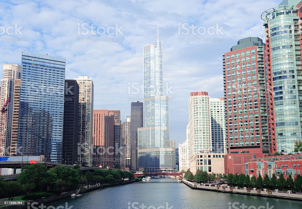 Trump Tower Chicago stock photo