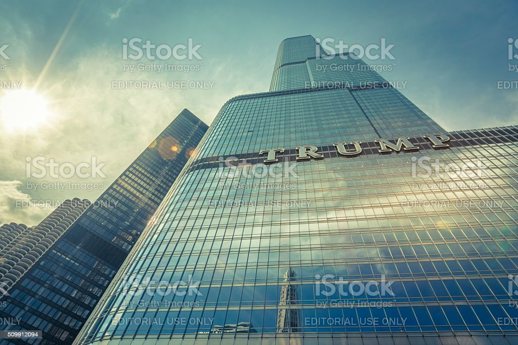 Trump Tower, Chicago USA stock photo