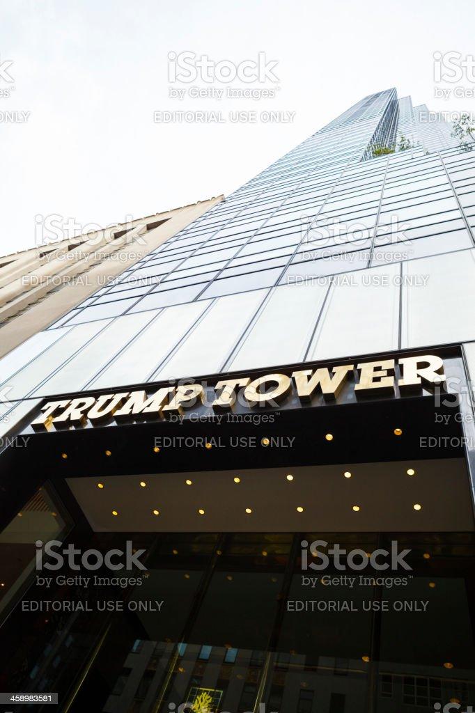 Trump Tower Fifth Avenue Manhattan royalty-free stock photo