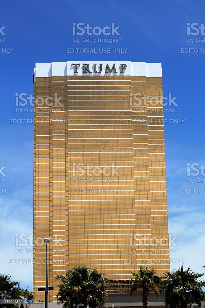 Trump tower in Las Vegas stock photo