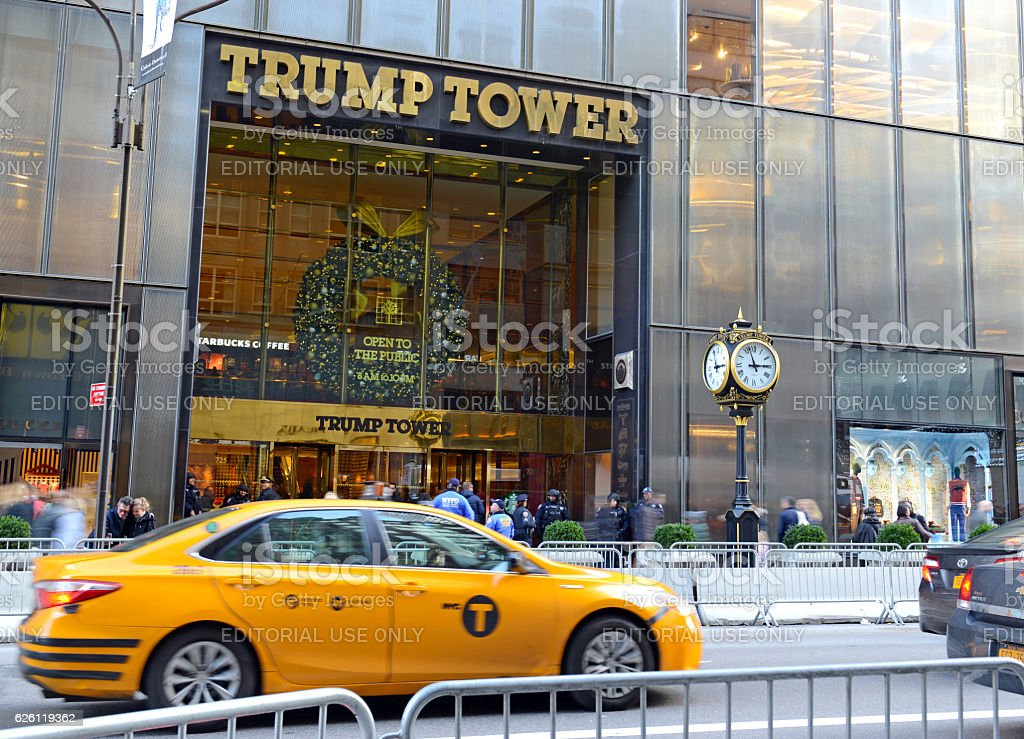 Trump Tower on 5th Avenue in Manhattan, New York stock photo