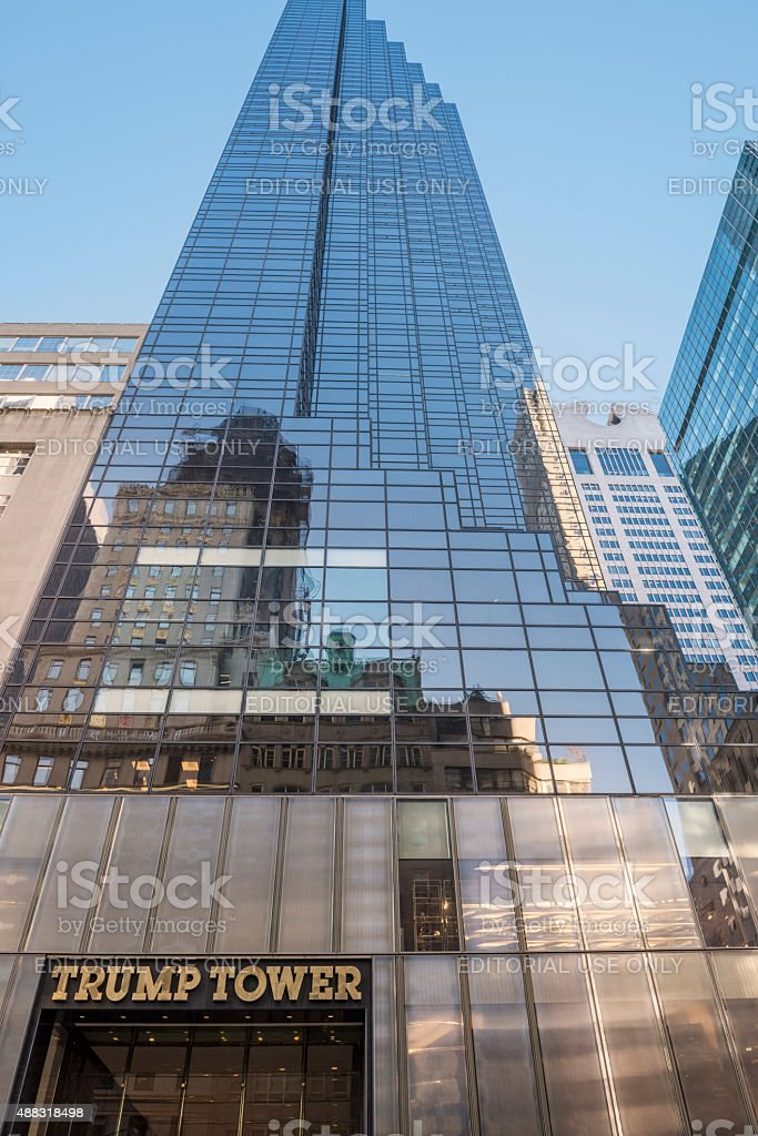 Trump Tower on 5th Avenue in New York City stock photo