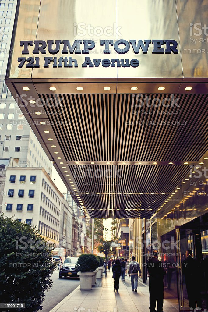 Trump Tower on Fifth Avenue, New York stock photo