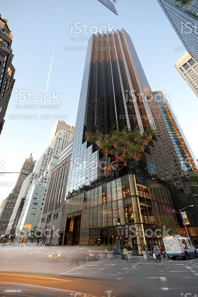 Trump Tower on Fifth Avenue stock photo
