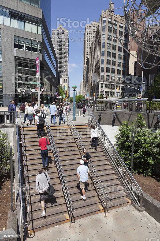 Trump Tower stairs stock photo