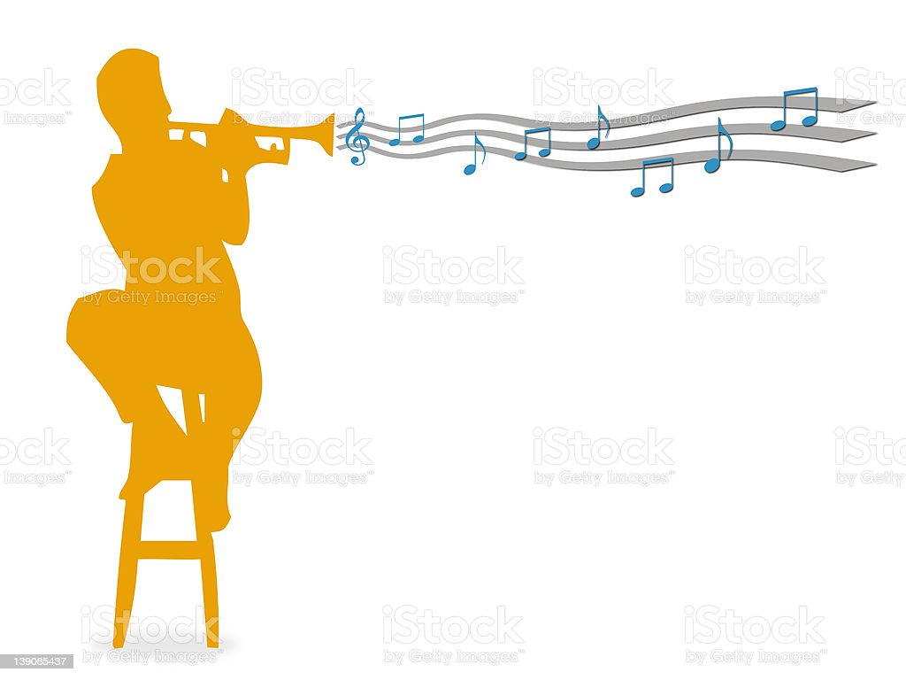 Trumpet 2 royalty-free stock photo